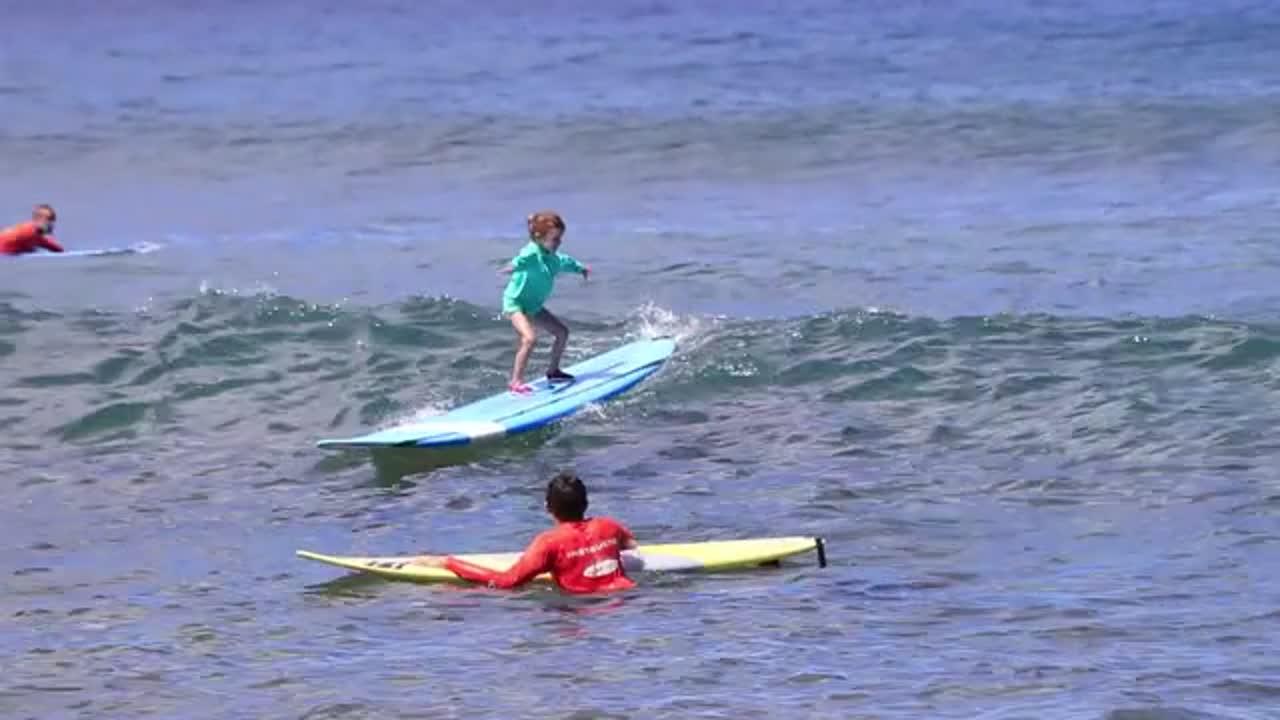 Aubrey Surfing